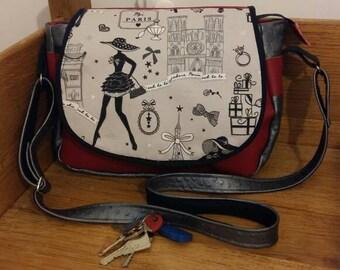 Removable flap Messenger bag