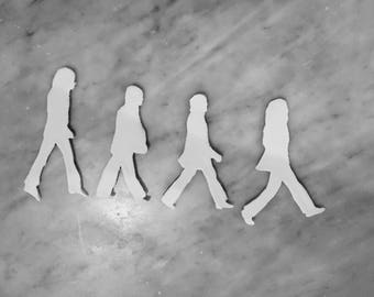 Set of 4 cookie cuters -Beatles shilhouttes crossing Abbey road