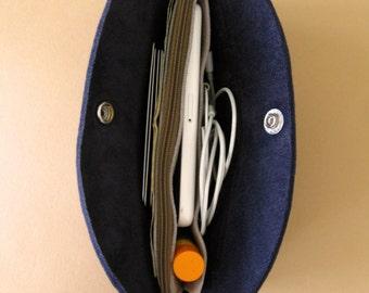 Pocketbook wallet - Indigo blue leather