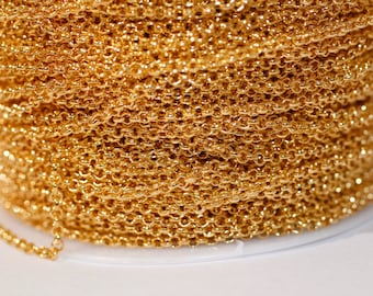 32ft Gold Rolo Chain-2mm-unsoldered
