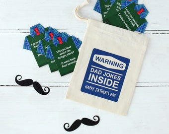 Father's Day Gifts Dad Jokes In A Personalised Bag