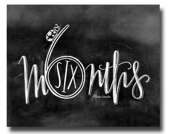 Baby Monthly Baby Monthly Chalkboard Baby Milestone Three