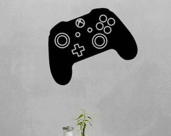 XBox Controller Wall Decal Video Game Gamepad Gamer Gift Gaming Playroom Vinyl Sticker Room Boy Bedroom Decor Poster Art Mural Print 716