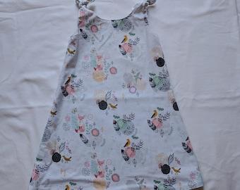 Reversible Dress - Toddler Dress - Fox Dress