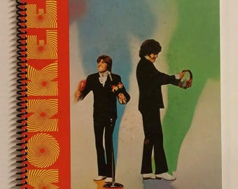 """Monkees Spiral Notebook Hand Made from Recycled Vinyl Record Album Cover """"Changes"""""""