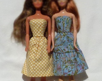 "11.5"" Fashion doll handmade dress this fits dolls like vintage to present day Barbie"