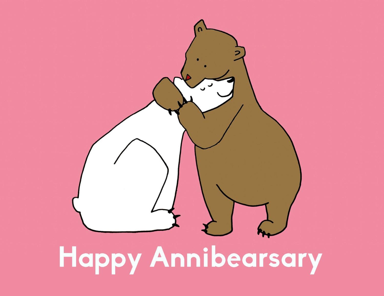 Annibearsary anniversary greeting card animal pun zoom kristyandbryce Images
