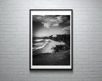 Beachy Bliss | B&W Beach Photo Download