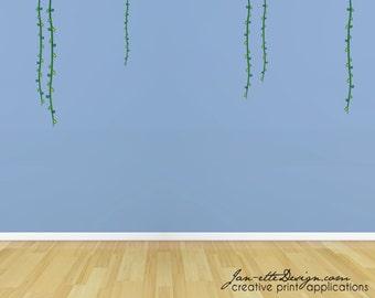 Kids Jungle Room Wall Decals, Jungle Wall Decals, Jungle Vine Wall Stickers, Vine Wall Decals, Jungle Theme, Jungle Plants