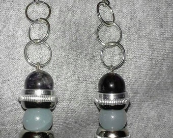 Amethyst and Quartzite Earrings
