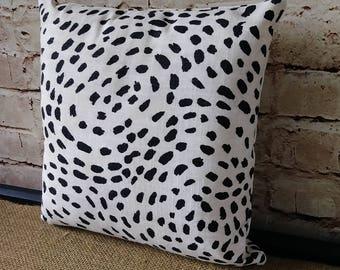 Black And White Animal Print Pillow Pillow - Throw Pillow - Black and White Pillow - Animal Print Pillow - Decorative Throw Pillow