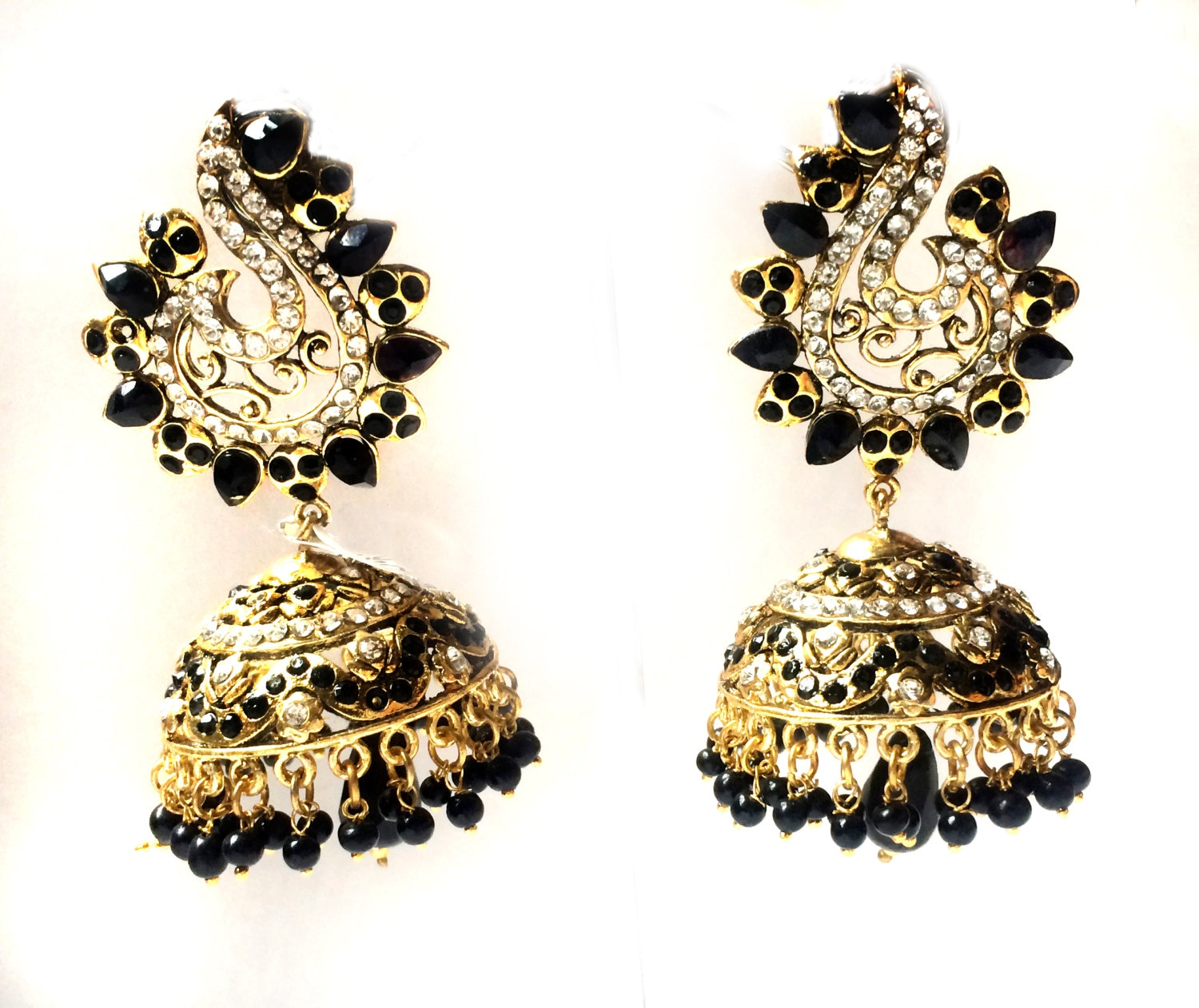 jhumki earrings traditional gold index oxidised green rajasthani floral collection wedding color design