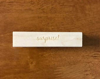 Invitation Stamp, surprise stamp, Rubber Stamp, Wedding