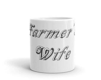 Farmers Wife Mug | Farm Wife | Newlywed Gift | Farm mug | Farmer Mug | Farmer Gift | Farm | Farm Gift | Farm Girl Mug | Farm Girl Gift
