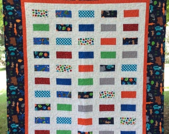 Clearance Baby quilt, boy quilt, toddler quilt