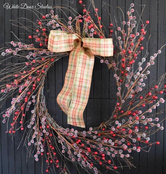 Red Berries Twig Wreath