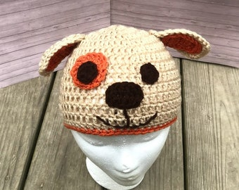 Crochet puppy dog beanie hat