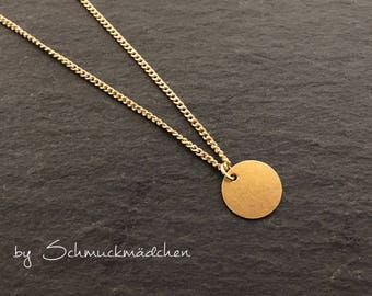 Chain gold Moon simply