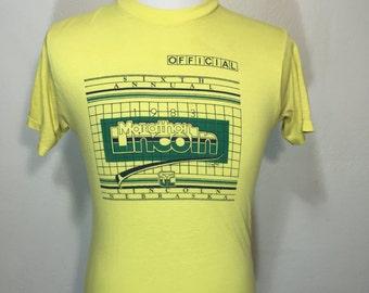 80's vintage 50/50 blend marathon t shirt