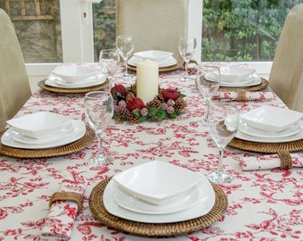 Christmas Red Berries 150x230cm Rectangle Tablecloth