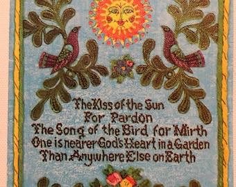 Vintage Birthday Card Sun Kissed 1960s Age of Aquarius Americana
