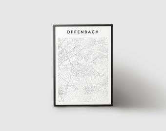 Offenbach Map Print