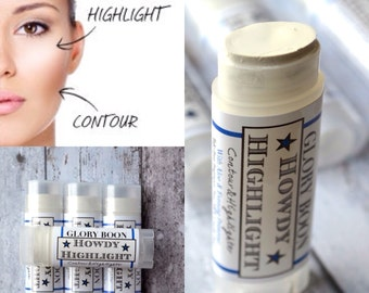 Howdy Highlighter, Organic contour makeup and cover up, mineral makeup, paraben free, talc free, bath and beauty