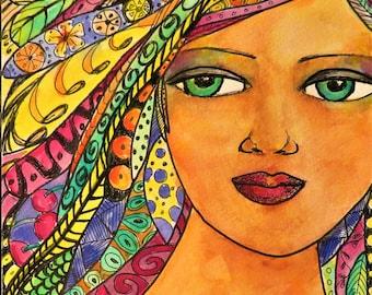 Dance Angel - Original Watercolor and Mixed Media Art