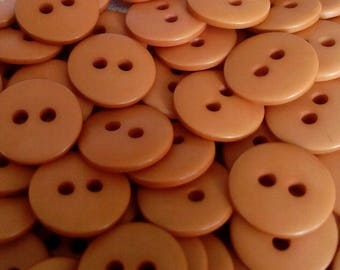 5 buttons color rust cake HABERDASHERY old 13 mm think Group sales to minimize