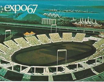Vintage 1960s Postcard Set of 5 Montreal Expo 86 Quebec QC Canada Pavilion Automotive Stadium la Ronde Card Photochrome Postally Unused