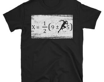 Running Math Equation Funny Fitness Math Symbols Gift Shirt
