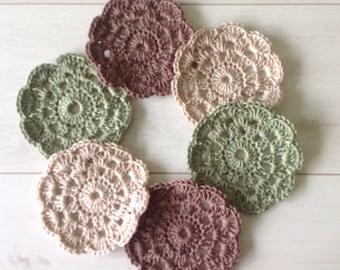 Set of Six Crocheted Coasters