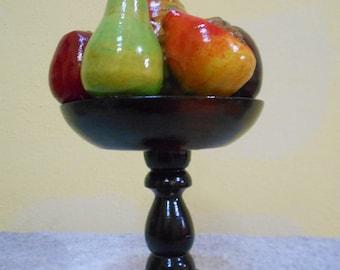 Beautiful Guatemalan Wooden Tropical Fruit Basket