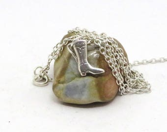 Cowboy boot necklace, Stampede necklace, Rodeo necklace, Calgary necklace