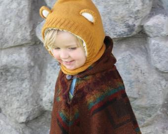Yellow Bear Cowl/Hat