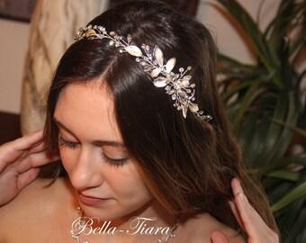 crystal hair vine, bridal hair vine, champagne crystal headband, crystal hair vines, bridal headband, wedding headband, wedding hair vine