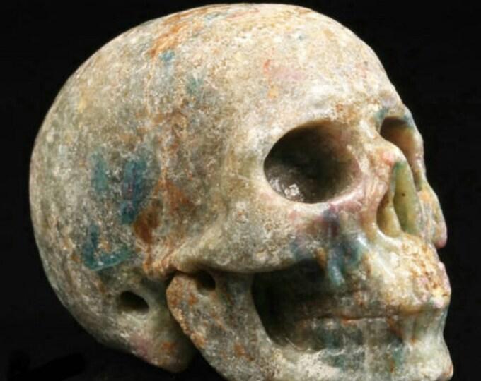 Ruby Fuchsite Carved Skull  #069