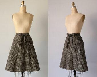 Jupe portefeuille Vintage / jupe portefeuille des années 1980 / enrouler autour de jupe / Floral Print / Prairie de la jupe
