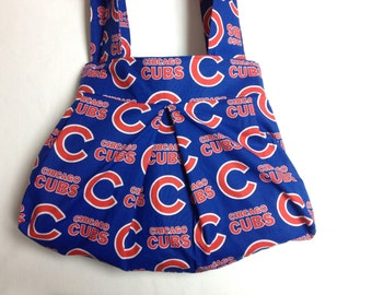 The Batter Up: Shoulder Purse (Chicago Cubs Print)