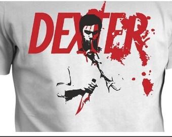 Dexter hand Painted T-shirt-Dexter handpainted T-shirt
