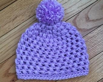Baby Pom Pom Crochet Beanie Hat