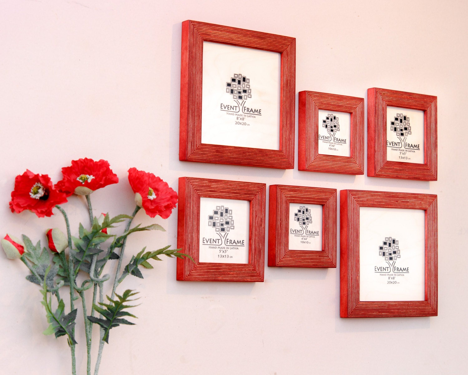 Gallery wall picture frame set of 6 square photo frames size 8x8 12500 jeuxipadfo Image collections