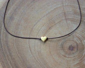 Heart Choker / Gold Heart Choker