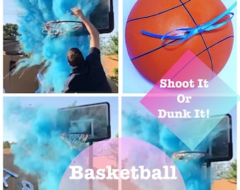 "6.25"" Gender Reveal Basketball Gender Reveal Ideas Gender Reveal Basketball"