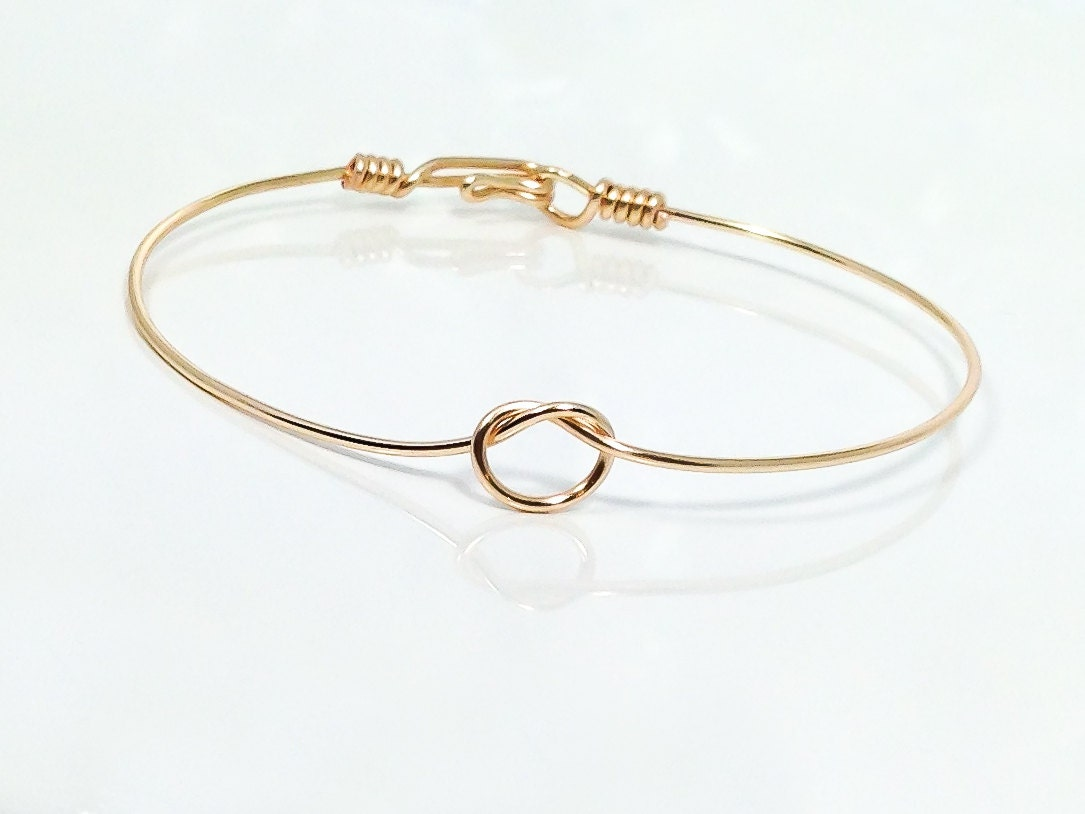 image knot jewellery plain bracelets finnies bangles gold yellow jewellers the bangle