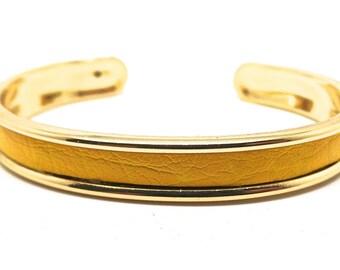Yellow and gold Bangle Bracelet