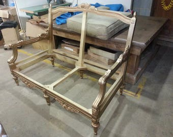 Before Frame - French Provincial Settee Frame  Ready for a Stunning Makeover