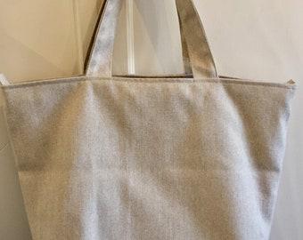 Large Zipped Tote Bag