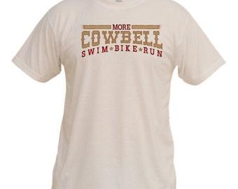 More Cowbell 2.0 Vapor Performance Triathlon T-shirt