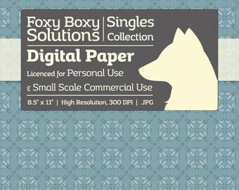 Instant Download Blue Fleur de Lis Printable Digital Paper for Scrapbooking - Digital Download Supply - Wedding Scrapbook Paper - Printables